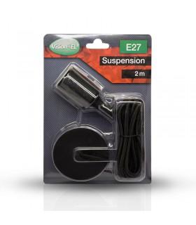 Suspension câble 2m E27 noir 5001 3701124400260