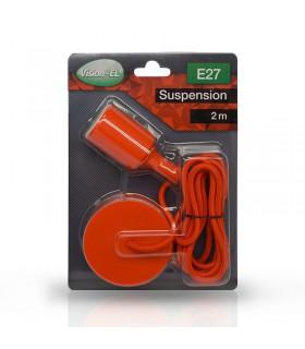 Suspension câble 2m E27 rouge 5004 3701124400291