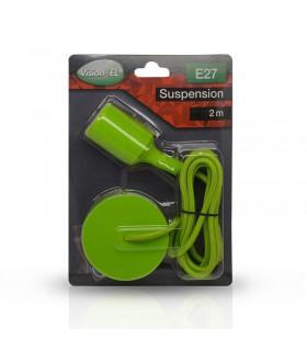 Suspension câble 2m E27 vert 5006 3760173783625