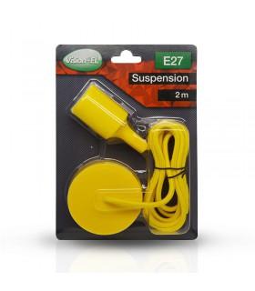 Suspension câble 2m E27 jaune 5007 3760173783632