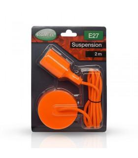 Suspension câble 2m E27 orange 5008 3760173783649
