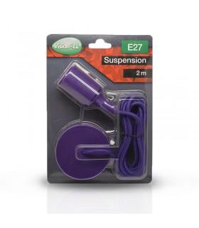 Suspension câble 2m E27 violet 5009 3760173783656