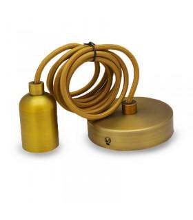 Suspension E27 mat marron bronze avec cable 2m 5013 3701124407863