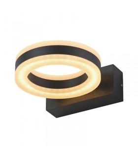 Applique murale LED ronde 12W 3000 K 800 Lm gris 67750 3701124406699