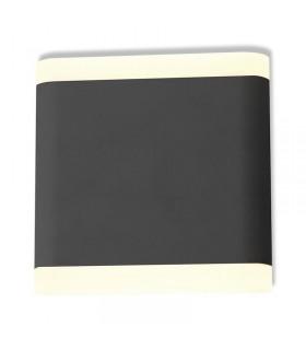 Applique murale LED rectangulaire 6W 3000 K 530 Lm gris 67764 3701124406835