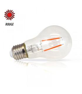 Ampoule LED bulbe rouge E27 2W 230 Vac 71384 3701124407535