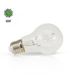 Ampoule LED bulbe vert E27 2W 230 Vac 71386 3701124407559