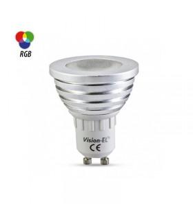 Ampoule LED spot RGB GU10 3W 230 Vac 73832 3701124411907