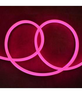 Bande neon 50m rose IP65 8W m avec alimentation 749808 3701124405869