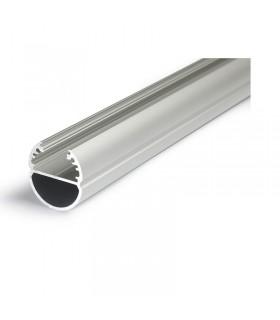 Profile led ovale 1000mm anodise 9800 3760173780174