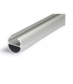 Profile led ovale 2000mm anodise 9801 3760173780181