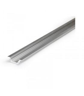 Profile led rainure 1000mm alu brut 9820 3760173780358