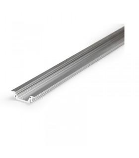 Profile led rainure 2000mm alu brut 9821 3701124403988