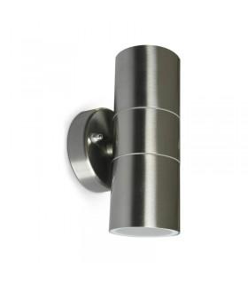 APPLIQUE MURAL LED 230 V 2 X GU10 IP54 INOX CYLINDRIQUE 316L 700350 3701124422262