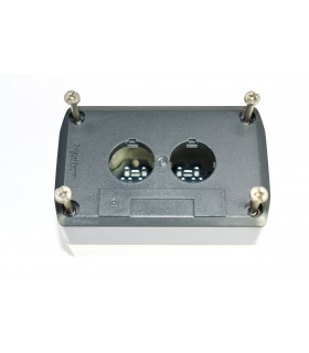 HARMONY XAL - BOITE 2 TROUS Ø22 - COUVERCLE GRIS FONCE - FOND - XALD02