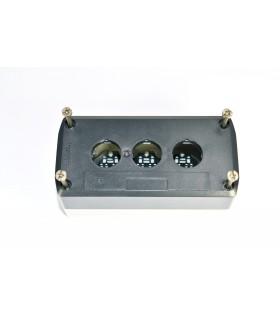 HARMONY XAL - BOITE 3 TROUS Ø22 - COUVERCLE GRIS FONCE - FOND - XALD03