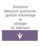 Solutions détection autonome, gestion d'éclairage et pilotage du bâtiment