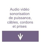 Audio vidéo sonorisation de puissance, câbles, cordons et prises