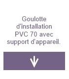 Goulottes d'installation PVC 70 avec support